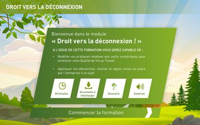 « Droit vers la déconnexion » : un nouveau module en Digital Learning