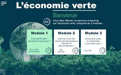 Training module about the green economy for Pôle Emploi