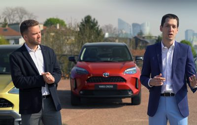 A training course for the Yaris Cross compact hybrid SUV